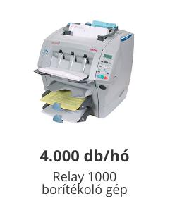 relay 1000 borítékológép
